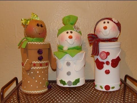DIY - Dulceros Navideños con material reciclado / Christmas candy holders - YouTube