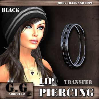 Piercing G.G Addicted L650 < BLACK > Lip Piercing