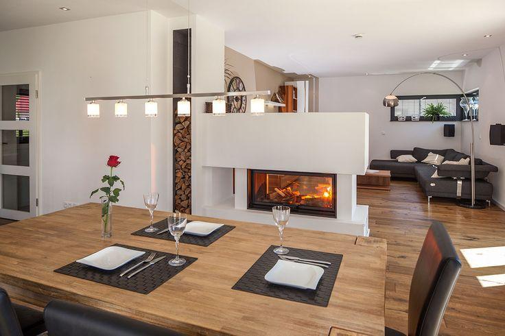 Essbereich Und Kamin Essbereich Kamin Raumteiler Und Home Fireplace Home House Design