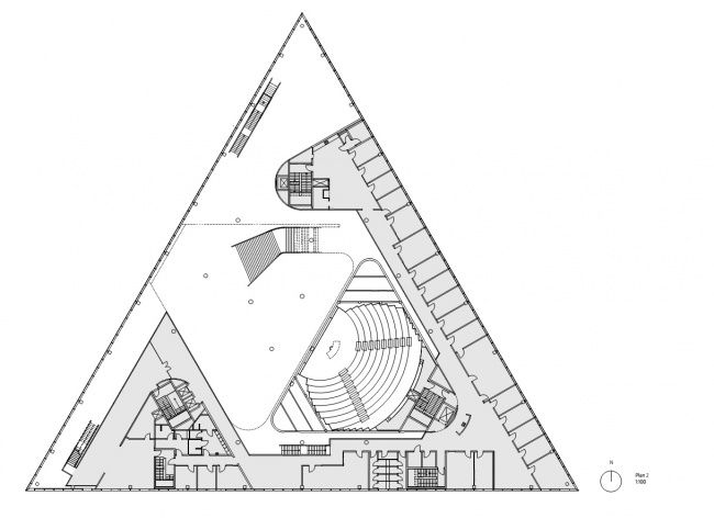 7 best triangle architecture images on pinterest House plans for triangular lots