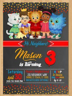 This sweet Daniel Tiger Printable invite is the perfect way to invite your guests to your little one's next birthday party! #affiliate
