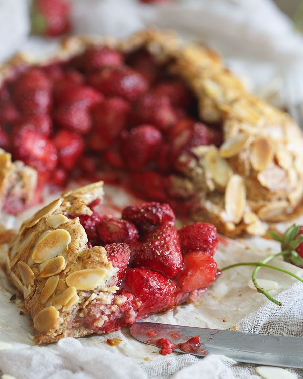 Gluten Free Strawberry Almond Galette