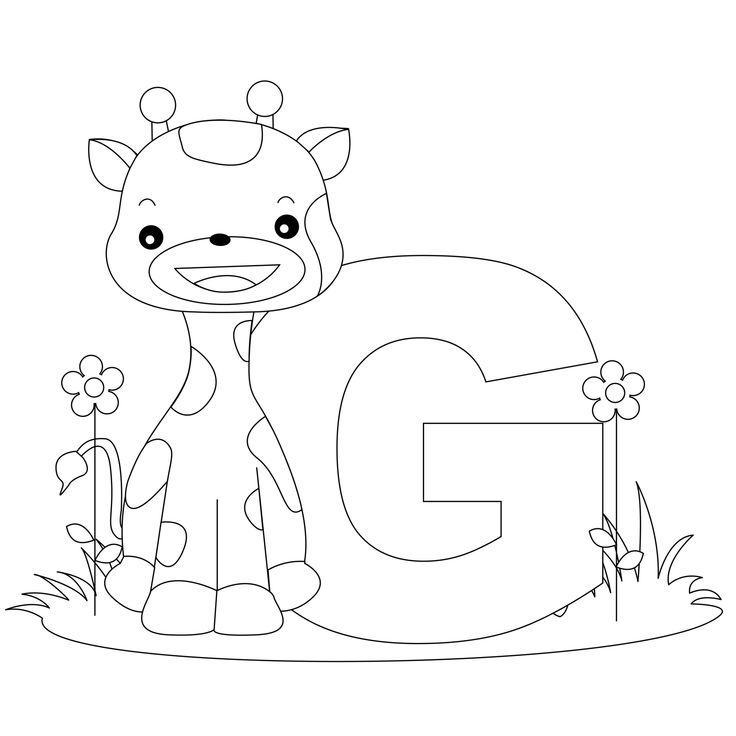 Animal Alphabet Letter G is for Giraffe! Here's a simple