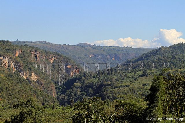 Gokteik viaduct on the railway line from Mandalay to Lashio