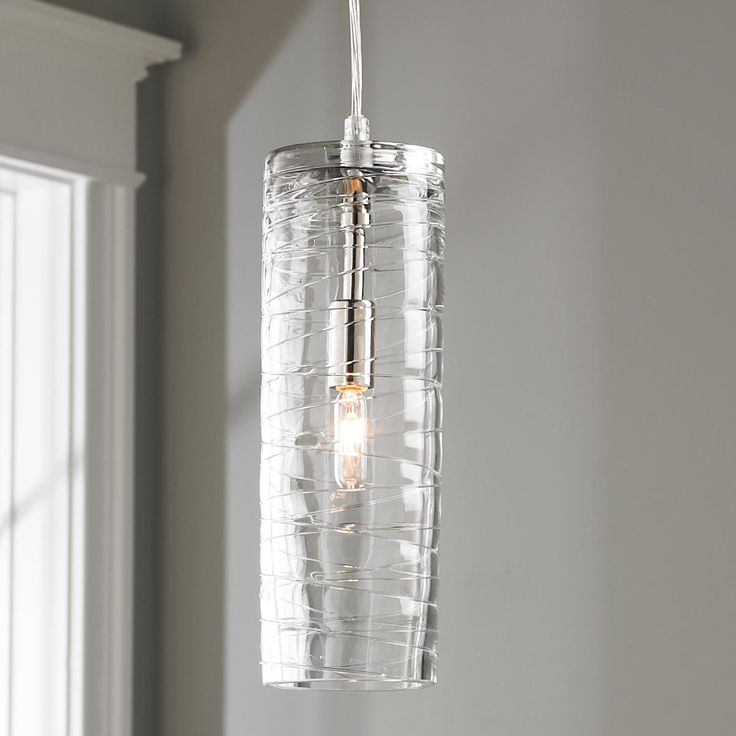 Cyclone glass pendant light