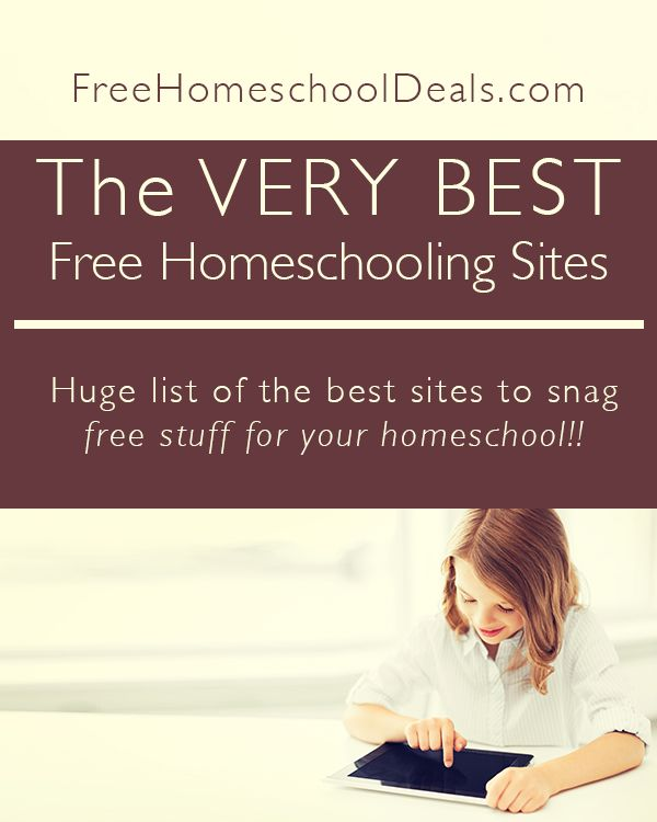 The VERY BEST Free Homeschooling Sites     Here at Free Homeschool Deals my team and I have brought you the very best homeschooling freebies and homesc