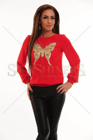 Bluza LaDonna Cute Butterfly Red