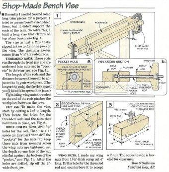 #621 DIY Bench Vise - Workshop Solutions Plans, Tips and Tricks
