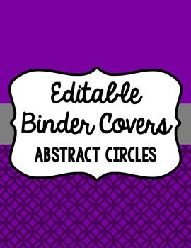 This template includes 15 different colors, each in three different frames with spines included as well (1 inch, 1.5 inch, 2 inches, and 3 inches). The format is an editable PowerPoint to make it easier to design you own binder covers! Colors included: