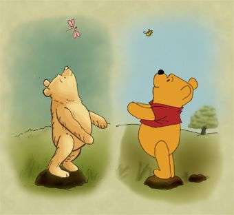 Original Pooh and Pooh now.  I still have my Winnie-The-Pooh books from when I was a little girl.  I read them to my boys, many, many times.  Good memories.