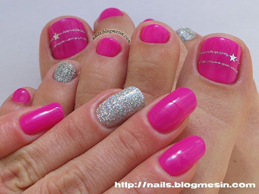 Manicure and Pedicure with IBD Just Gel Polish – Retro Rosette by nails.blogmesin.com
