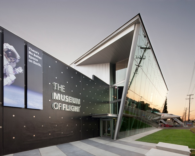 Exterior Identity Wall For The Museum Of Flights New Space Shuttle Gallery By Studio SC