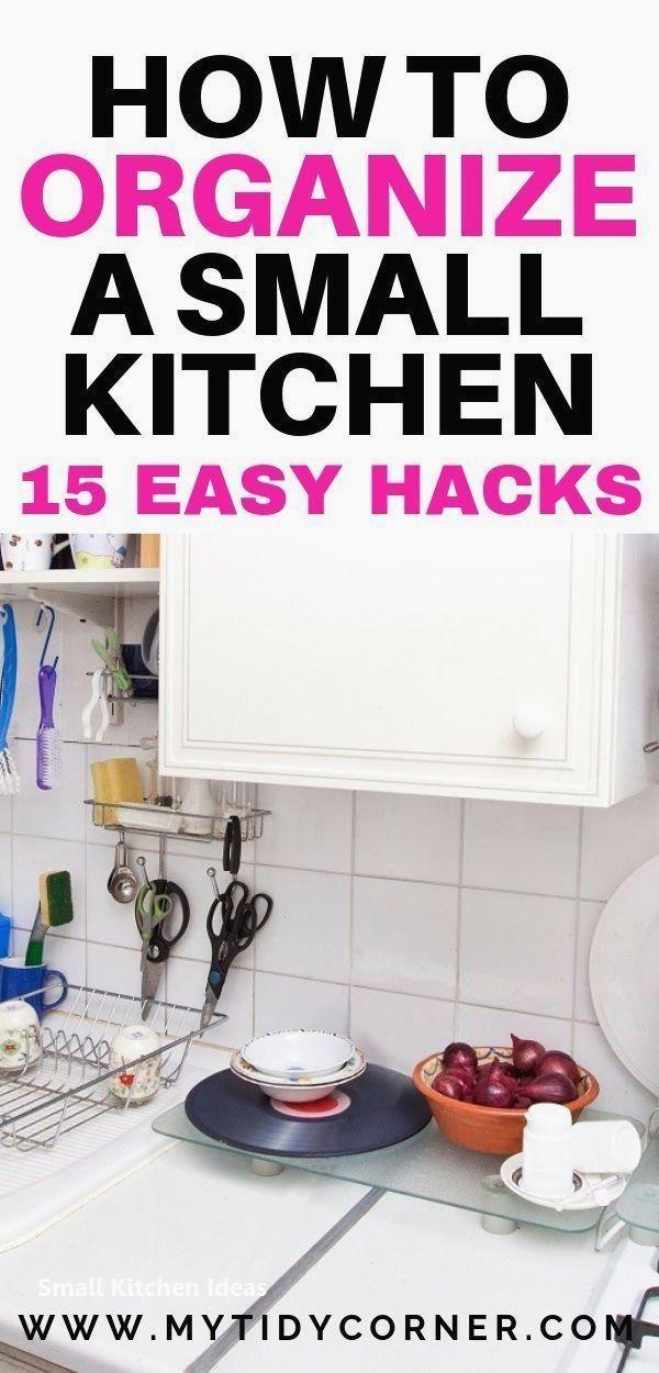 Home Decor Diy Diy Small Kitchen Tips And Hacks Kitchendesign Smallkitchendesign Ho Small Kitchen Hacks Kitchen Hacks Organization Small Kitchen Organization