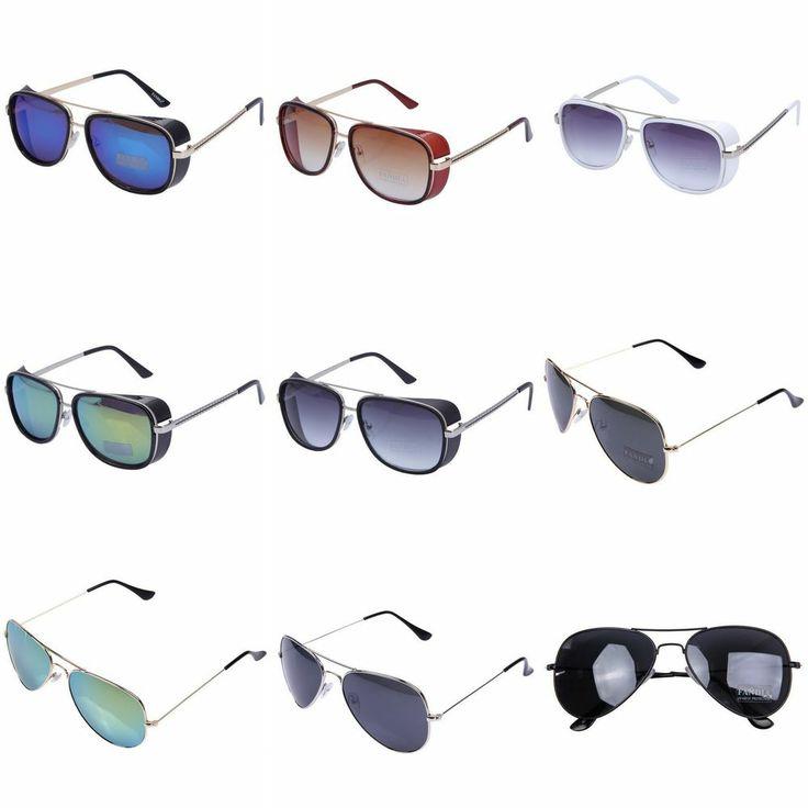 Anti-Reflective Goggle Designer Aviator Mens Womens Mirrored Sunglasses Glasses