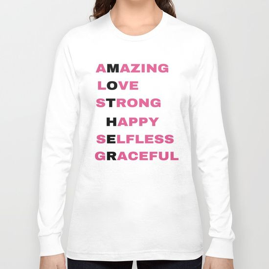 Amazing Love Strong Happy Selfless GraceFul Long Sleeve T-shirt