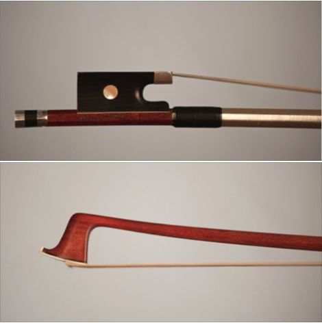 A Louis Thomassin-crafted violin bow is available for examination and trial. #violin #bow