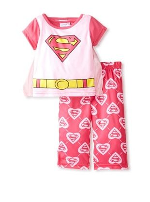 56% OFF Kid's Superwoman 2-Piece Pajama Set with Cape (Assorted)