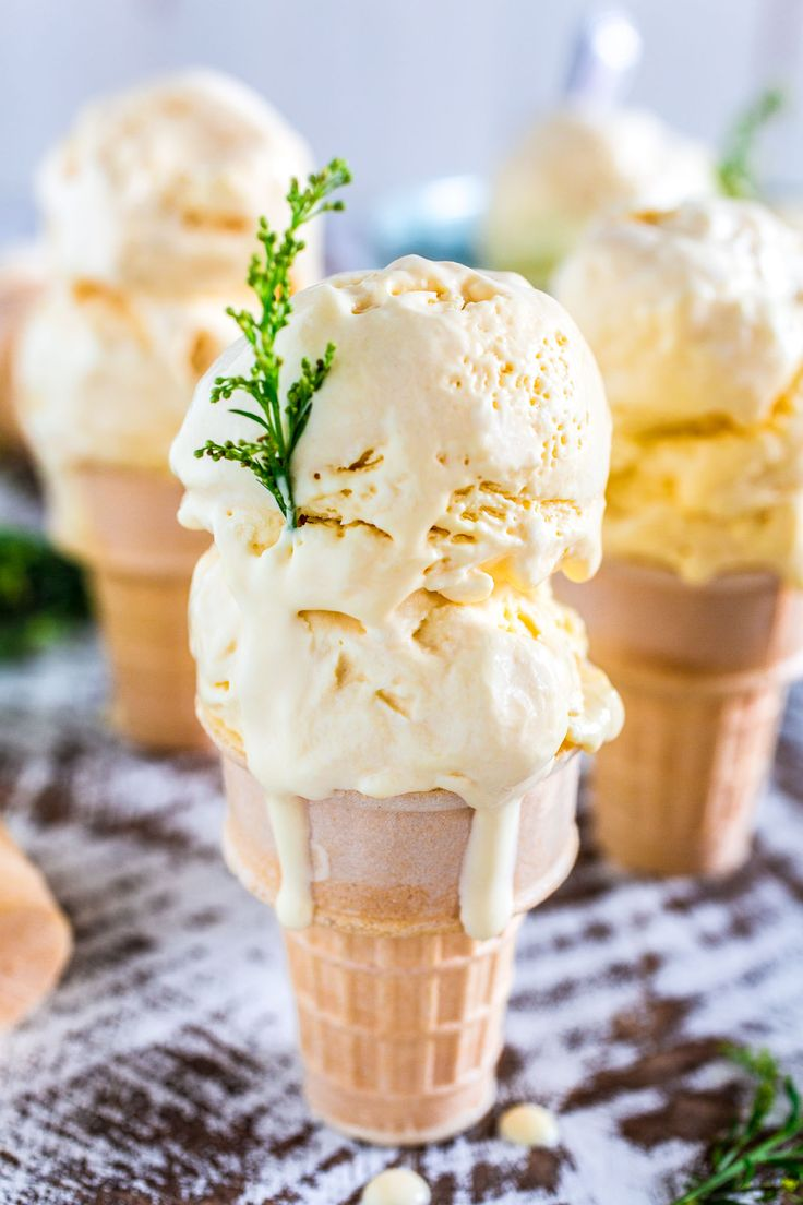 Passion Fruit Ice Cream | www.oliviascuisine.com | A no-churn ice cream recipe that is sweet, tart, creamy and oh so tropical! :) The perfect frozen treat for a hot summer day!