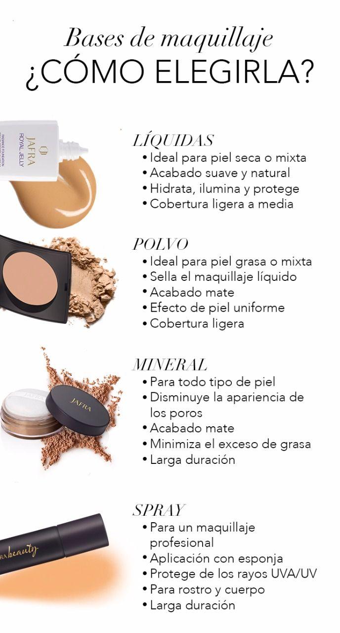 Después del Primer Facial va tu Base de Maquillaje, descubre los diferentes tipos aquí.#JAFRA #JAFRAMéxico #maquillaje #mujer #belleza #rostro #base #basedemaquillaje #baseliquida #polvos #spray #piel #radiante #apariencia #look #catálogo