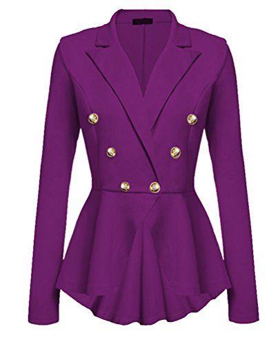Veste blazer violet femme