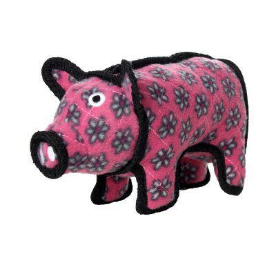Tuffy Durable Dog Toy Barnyard Pig - T-JR-BY-PIG