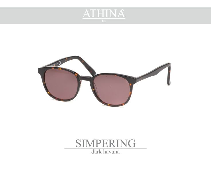 Mod. SIM2323S03 Dark Havana acetate of cellulose frame with unbreakable standard brown lenses.