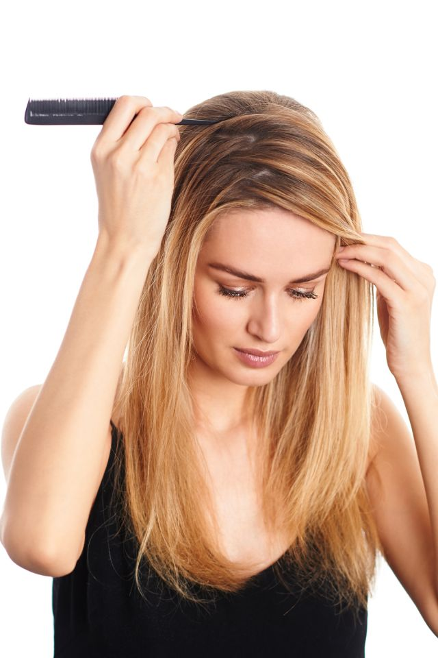 Zig-Zag Part Your Hair to Hold You Over Between Dye Jobs