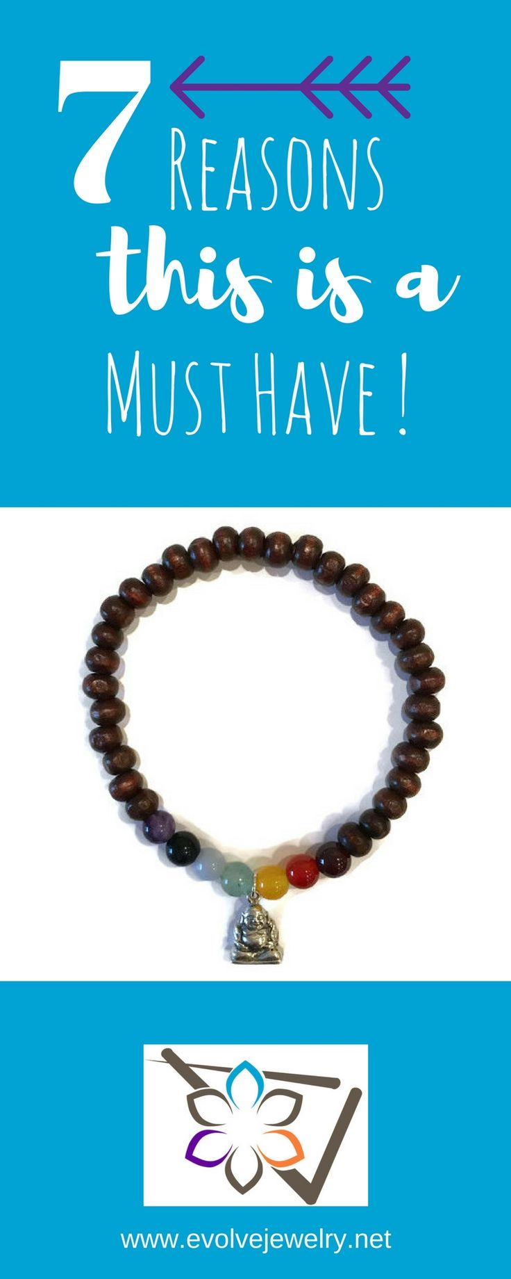 This Chakra bracelet has you covered! It contains healing gemstones for all 7 Chakras. Garnet, Carnelian, Yellow Jade, Aventurine, Angelite, Blue Goldstone, and Amethyst crystals on a wood bead bracelet.