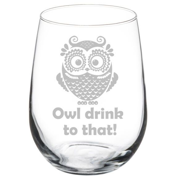 10 oz Wine Glass Goblet Funny Otter Otterly Wasted
