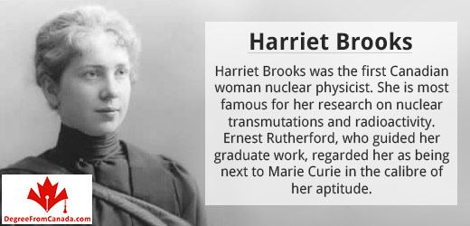 #ScientistFact #harrietbrooks Harriet Brooks was the first Canadian woman nuclear physicist. Via DegreeFromCanada