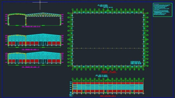 Steel Factory Architecture Plan Autocad Free Drawing Autocad Free Factory Architecture Autocad