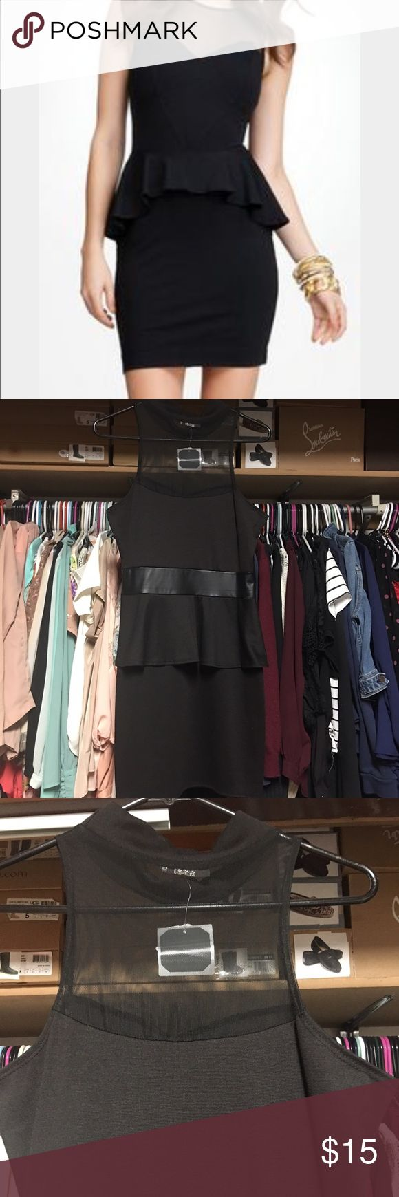 black peplum dress Brand new , never been wore Black Peplum Dress. Still has tag attach to it. The first picture is to show you what it looks like. It similar but not exact. Dresses Mini