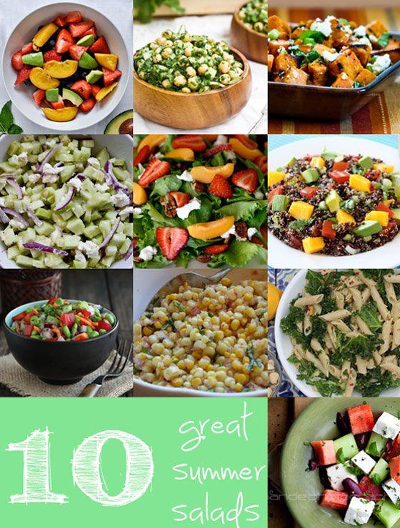 10 great summer salads: Summer Healthy, Health Food, Healthy Salad, Healthy Eating, Drinks Recipes, 10 Summer, Summer Salads, Food Drinks, Salad Healthy