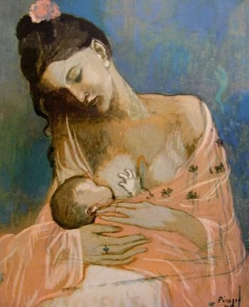 Maternité by Picasso cette œuvre accrochée dans le couloir de mon collège me fascinait à chaque fois que je passais devant...