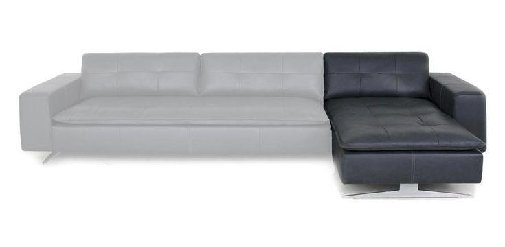 Xooon: Flynn, Longchair rechts 900,- € | Produktgruppe: Sofas | Maßangaben: Breite: 109 cm Sitzhoehe: 45 cm Sitzhoehe: 43 cm Hoehe: 81 cm Hoehe: 79 cm Tiefe: 159 cm