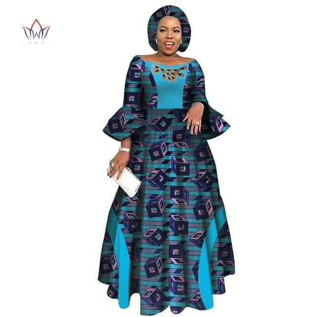 2019 African Dresses for Women Long Sleeve Dresses for Women Party Wedding Casu… at Diyanu