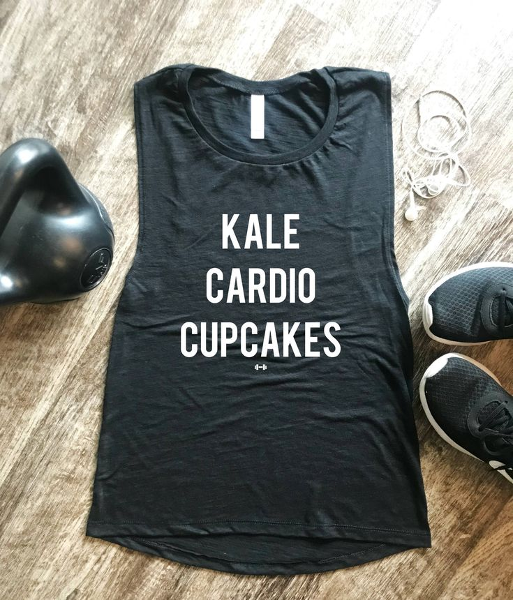 Kale Cardio Cupcakes Tank Top, Womens Workout Tank, Funny Workout Tank, Womens  Fitness