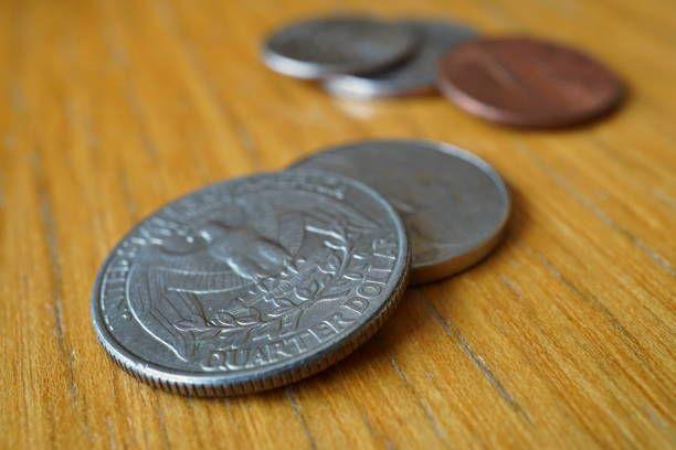 set of silver quarter dollar coins
