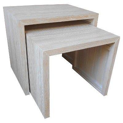 Gentil Wood Nesting Tables   White   Threshold™ : Target