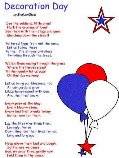 Memorial Day poem: an appropriate tribute