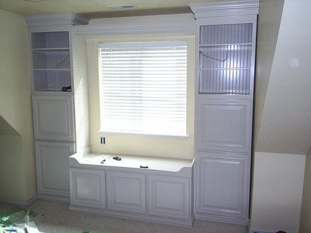 Built in window seat and storage....More ideas for the playroom...