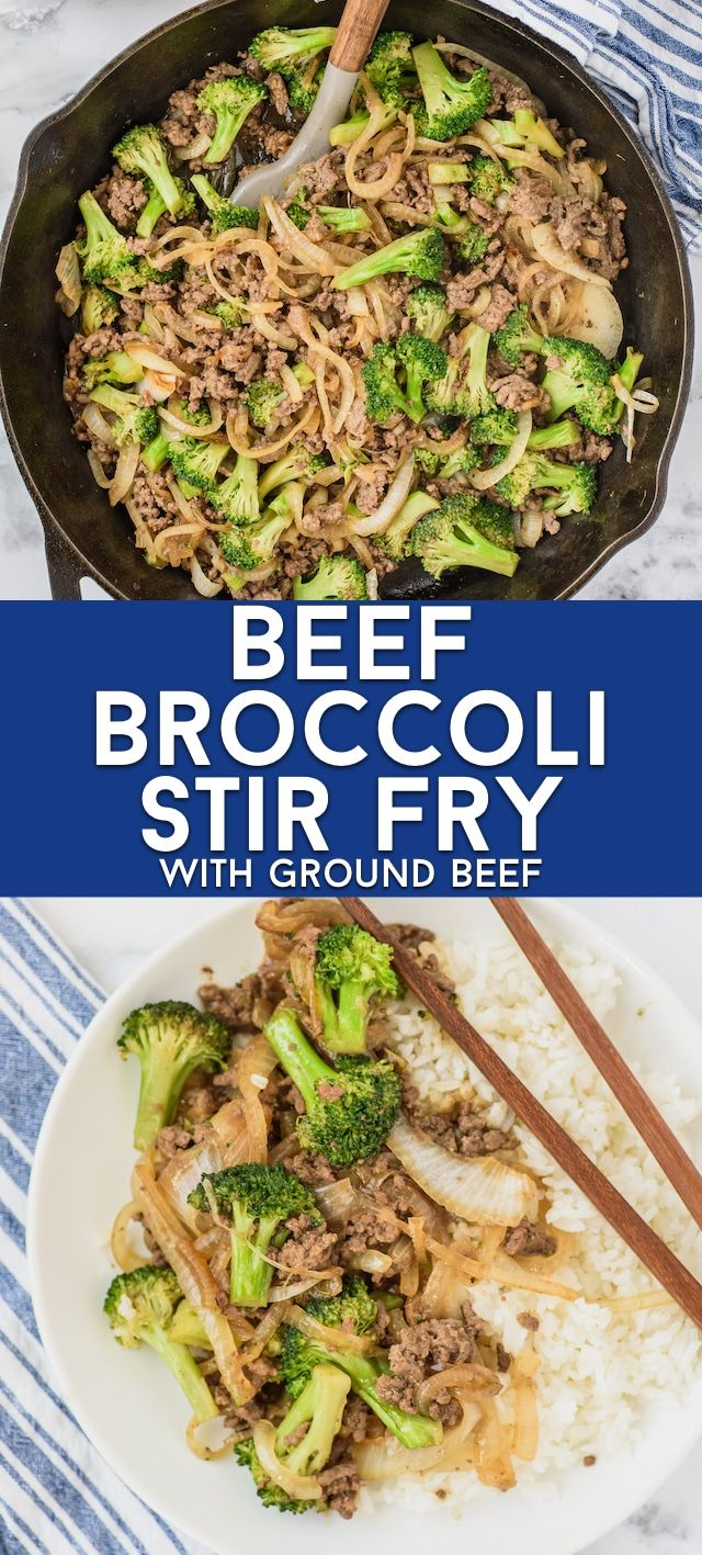 Ground Beef And Broccoli Stir Fry 30 Min Meal Crazy For Crust Recipe In 2020 Ground Beef And Broccoli Broccoli Beef Broccoli Stir Fry