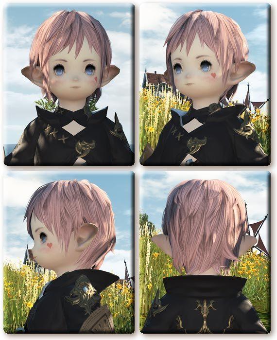 nemuKo.   【FF14】ララフェル女性の髪型