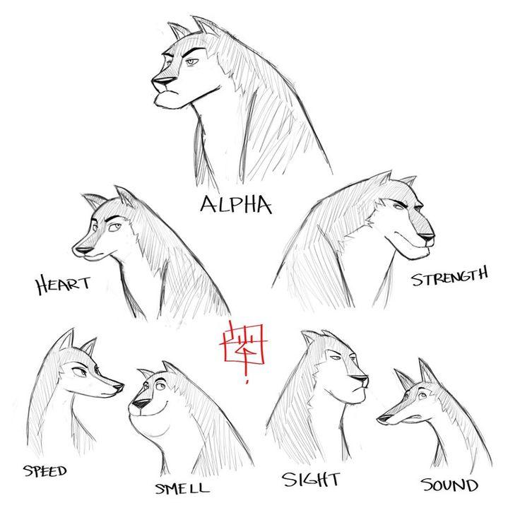 Wolf Pack Sketch Concept By *LuigiL On DeviantART | Character Design Animals | Pinterest | Wolf ...