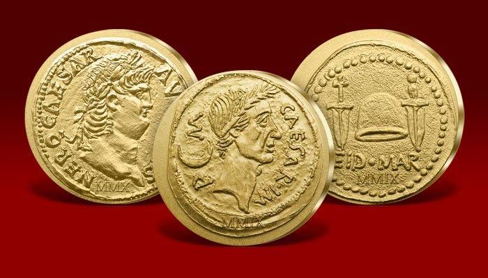 Złote monety Imperium Rzymskiego - przykładowe emisje