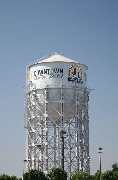 Santa ana ca landmark santa ana water tower h2o - Maison d architecte orange county californie ...