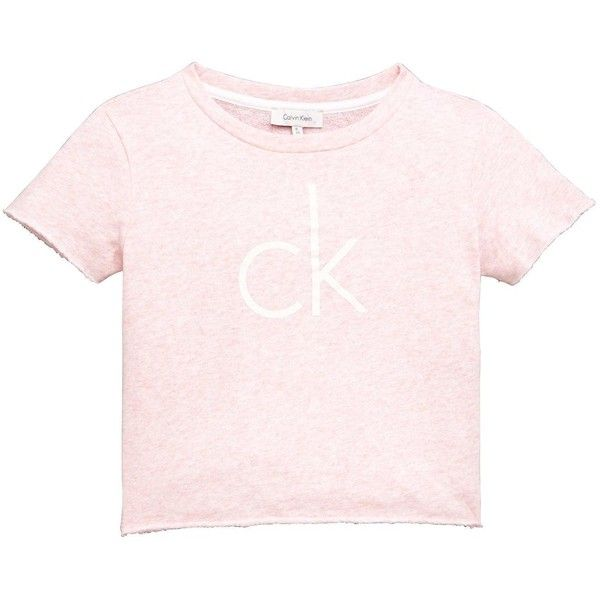 Calvin Klein Crop Beach Top (€12) ❤ liked on Polyvore featuring tops, beach crop top, calvin klein, cropped tops, pink top and beach tops