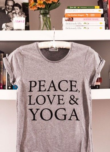 Peace, Love & Yoga T-Shirt | Deliciously Ella