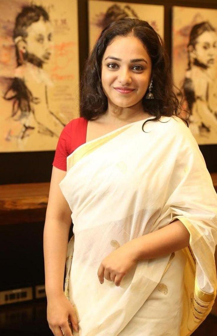 nice Nithya Menen in Traditional Saree Photos