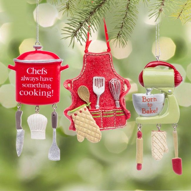 The perfect ornaments for anyone who loves to cook.    Whether you're looking for stocking stuffers, Secret Santa presents, festive Christmas decor or even gift cards, we have a huge selection of unique holiday stuff to make your days and nights merry and bright.